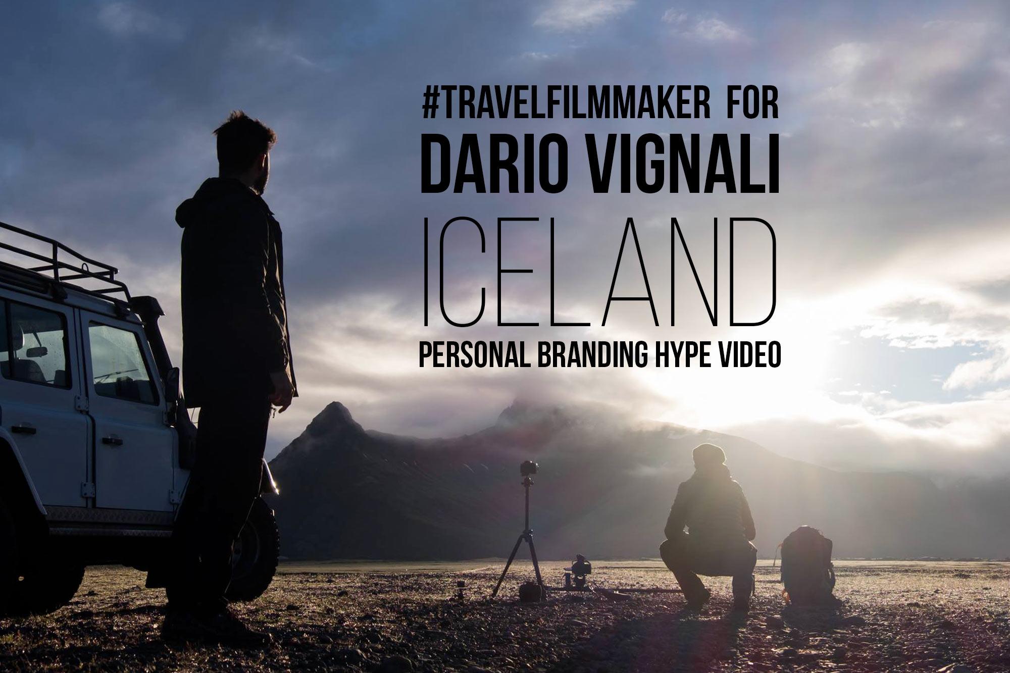Dario Vignali Personal Branding Video - Islanda